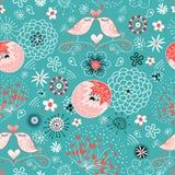 Chirridos del amor de la textura en florecido stock de ilustración