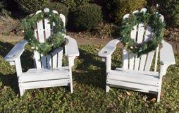 CHirs mit Weihnachtskränzen Lizenzfreies Stockfoto