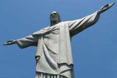 Chirst the Redeemer statue with clear blue sky Royalty Free Stock Photos