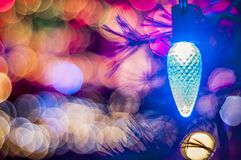 Chirstmas światło Z Bokeh W tle Zdjęcia Stock