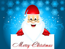 Chirstmas background with santa Stock Photography