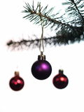 Chirstmas baubles royalty free stock photography