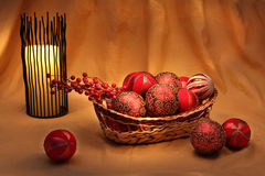 Chirstmas decorations and ornaments. Traditional christmas decorations and ornaments Stock Image