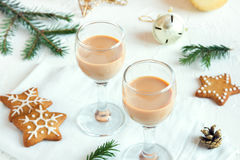 Chirstmas Irish cream coffee liqueur Stock Images