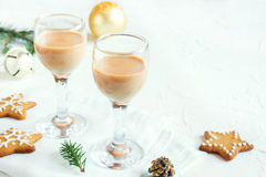 Chirstmas Irish cream liqueur Stock Images