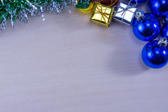 Chirstmas lub nowy rok dekoraci tło Obrazy Stock