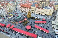 Chirstmas market in city of Prague Stock Images