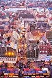 Chirstmas marknadsför av Strasbourg Arkivbild
