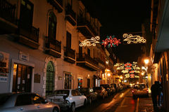Chirstmas in puerto rico. The historic spanish colonial city of san juan de puerto rico Stock Photography