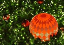 Chirstmas röd boll Royaltyfri Foto