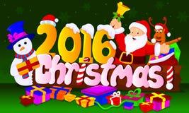 2016 chirstmas. Chirstmas 2016 santa Royalty Free Stock Images