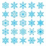 Chirstmas snowflakes set Royalty Free Stock Image
