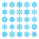 Chirstmas snowflakes set Stock Images