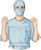 Chirurg Arts Hospital Colour Illustration Stock Fotografie