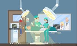Chirurg die verrichting in de chirurgieruimte maken royalty-vrije illustratie