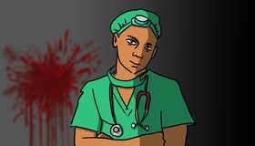 Chirurg, ilustracja Zdjęcia Stock
