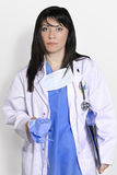 Chirurg im Blau stockfotos