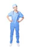 Chirurg młoda żeńska lekarka Obrazy Royalty Free