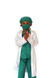Chirurg mit Schablone Lizenzfreie Stockfotos