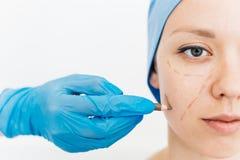 Chirurg plastyczny przy pracą fotografia royalty free