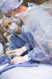 Chirurgen die op Patiënt werken Royalty-vrije Stock Afbeeldingen