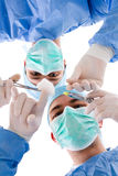 Chirurgen, die zur Operation fertig werden Lizenzfreie Stockfotografie