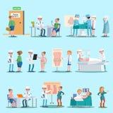 Chirurgia Plastyczna elementy Ustawiający royalty ilustracja
