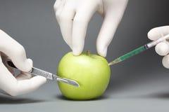 Chirurgia su una mela Immagine Stock