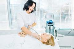 Chirurgicznie twarz udźwig SMAS podnosić ultrasonic Lifting twarzy fotografia stock