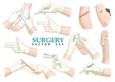chirurgie Beeldverhaal polair met harten Stock Afbeelding