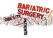 Chirurgie de Bariatric le dépannage rapide au concept de nuage de Word d'obésité Photo libre de droits
