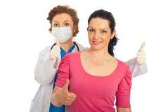 Chirurgie plastique réussie Images libres de droits
