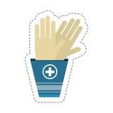chirurgie stérile de gants de bande dessinée illustration libre de droits