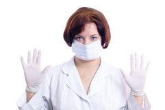 Chirurgien prêt à fonctionner Image stock