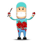 Chirurgien sanglant Image libre de droits