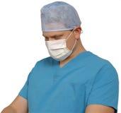 Chirurgien sur le blanc images libres de droits