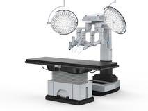 Chirurgieraum mit robotergestützter Chirurgie lizenzfreie stockbilder