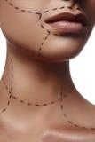 Chirurgii Plastycznej reklama Piękno opieka zdrowotna fotografia stock