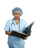 Chirurgische Ernstige Verpleegster - Royalty-vrije Stock Afbeeldingen