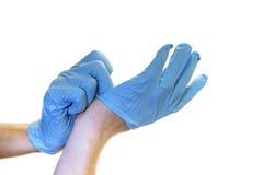Chirurgische handschoenen Royalty-vrije Stock Foto's