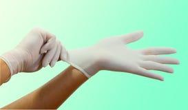 Chirurgische handschoenen Royalty-vrije Stock Fotografie