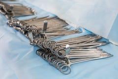 Chirurgische klemmen Stock Foto