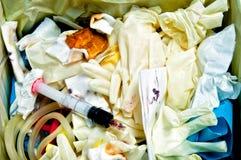 Chirurgischer Abfall lizenzfreie stockbilder