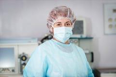 Chirurgo della donna Fotografie Stock