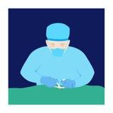 Chirurgo di vettore Immagini Stock