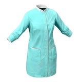 Chirurgo femminile Dress su fondo bianco Fotografia Stock