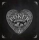 Chirwa poker night chalk Royalty Free Stock Photography