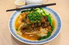 Chińscy wołowina gulaszu Lamian kluski Zdjęcia Royalty Free