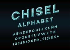 Chisel font vector illustration