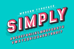 Chisel crafted display font with facets, alphabet Stock Photography